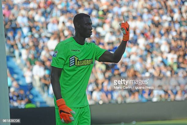Alfred Gomis goal keeper of Spal gestures during the serie A match between Spal and UC Sampdoria at Stadio Paolo Mazza on May 20 2018 in Ferrara Italy