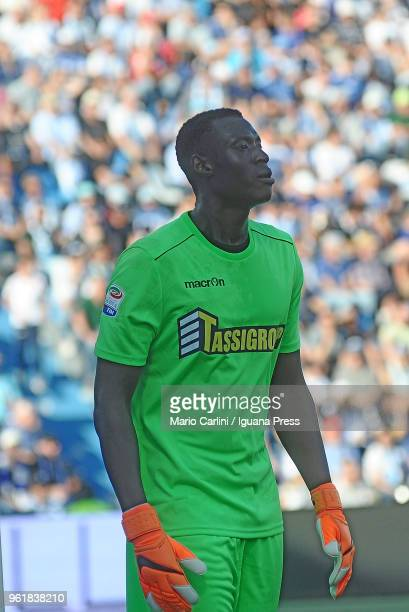 Alfred Gomis goal keeper of Spal looks on during the serie A match between Spal and UC Sampdoria at Stadio Paolo Mazza on May 20 2018 in Ferrara Italy