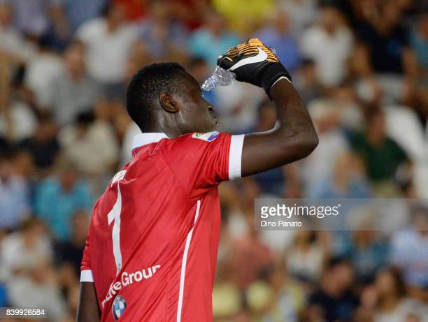 Alfred Gomis goalkeeper of Spal during the Serie A match between Spal and Udinese Calcio at Stadio Paolo Mazza on August 27 2017 in Ferrara Italy