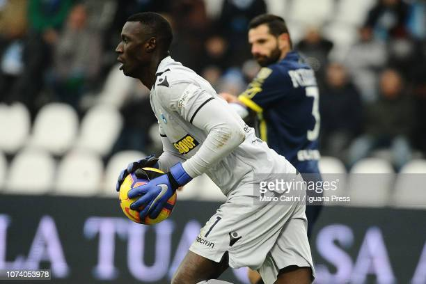 Alfred Gomis goalkeeper of SPAL in action during the Serie A match between SPAL and Chievo Verona at Stadio Paolo Mazza on December 16 2018 in...
