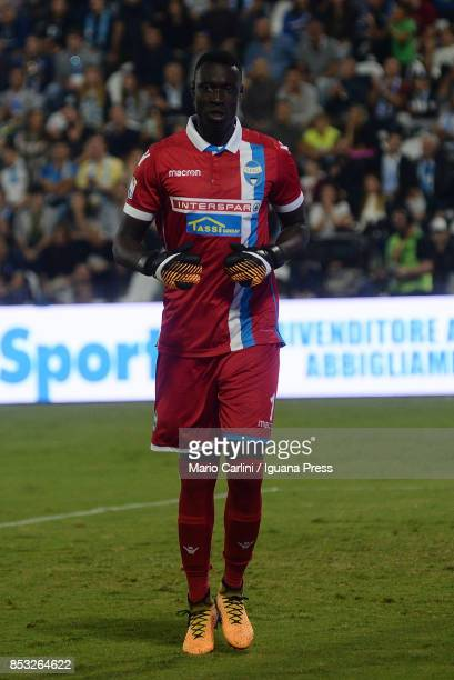Alfred Gomis goalkeeper of Spal looks on during the Serie A match between Spal and SSC Napoli at Stadio Paolo Mazza on September 23 2017 in Ferrara...