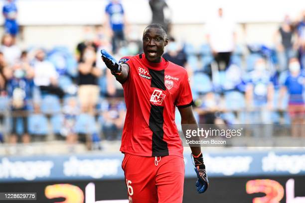 Alfred GOMIS of Dijon during the Ligue 1 match between RC Strasbourg and Dijon FCO at Stade de la Meinau on September 20 2020 in Strasbourg France