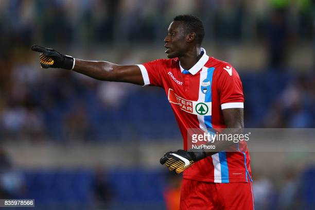 Alfred Gomis of Spal at Olimpico Stadium in Rome Italy on August 20 2017