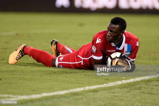 Alfred Gomis of SPAL during the Serie A match between Lazio and Spal at Stadio Olimpico Rome Italy on 20 August 2017