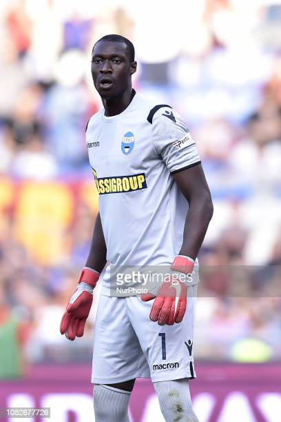 Alfred Gomis of SPAL during the Serie A match between Roma and SPAL at Stadio Olimpico Rome Italy on 20 October 2018