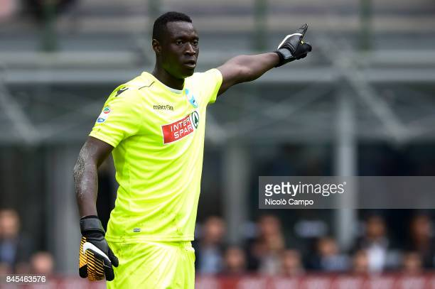 Alfred Gomis of Spal gestures during the Serie A football match between FC Internazionale and Spal FC Internazionale wins 20 over Spal