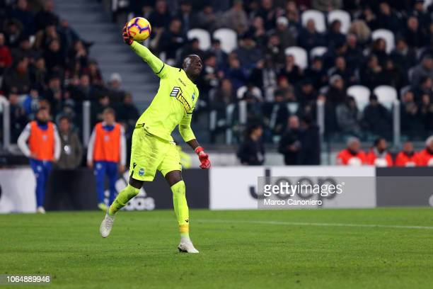 Alfred Gomis of Spal in action during the Serie A football match between Juventus Fc and Spal Juventus FC wins 20 over Spal