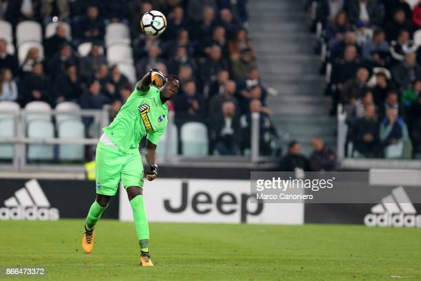Alfred Gomis of Spal in action during the Serie A football match between Juventus FC and Spal Juventus Fc wins 41 over Spal