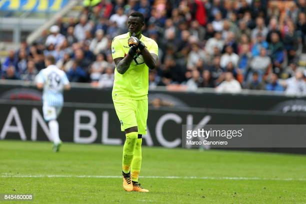 Alfred Gomis of Spal in action during the Serie A match between FC Internazionale and Spal Fc Internazionale wins 20 over Spal