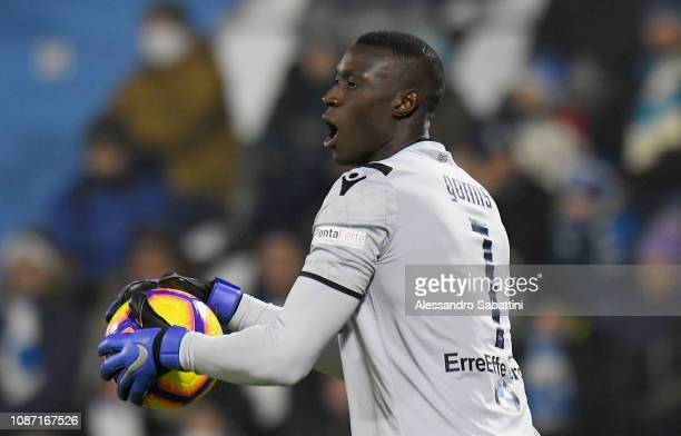 Alfred Gomis of Spal in action during the Serie A match between Spal and Udinese at Stadio Paolo Mazza on December 26 2018 in Ferrara Italy