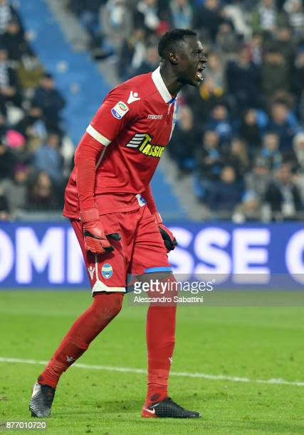 Alfred Gomis of Spal in action during the Serie A match between Spal and ACF Fiorentina at Stadio Paolo Mazza on November 19 2017 in Ferrara Italy