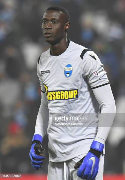 Alfred Gomis of Spal looks on during the Serie A match between Spal and Udinese at Stadio Paolo Mazza on December 26 2018 in Ferrara Italy