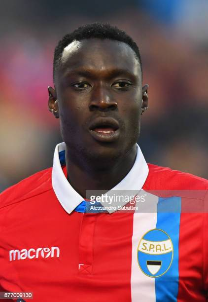 Alfred Gomis of Spal looks on during the Serie A match between Spal and ACF Fiorentina at Stadio Paolo Mazza on November 19 2017 in Ferrara Italy