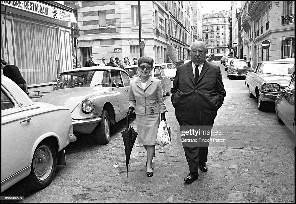 Alfred Hitchcock And Wife Doing A Tour Of Paris : News Photo