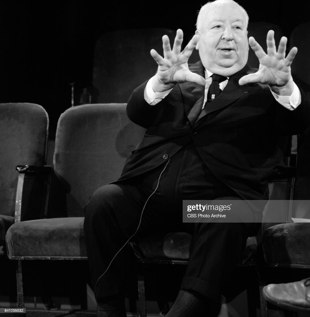 Alfred Hitchcock being interviewed for the performing arts television program, 'Camera Three.' Episode: The Illustrated Alfred Hitchcock (part 2) originally broadcast on July 23, 1972. Image dated: June 12, 1972 New York, NY.