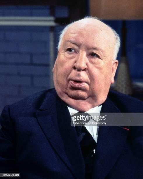 Alfred Hitchcock British film director circa 1975