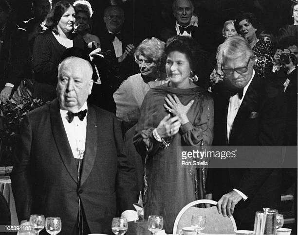 Alfred Hitchcock Ingrid Bergman and Cary Grant during AFI Salute to Alfred Hitchcock at Beverly Hilton Hotel in Beverly Hills California United States
