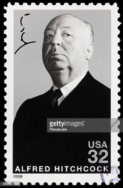 アルフレッド・ヒッチコック(xxl )郵便切手 - アルフレッド・ヒッチコック ストックフォトと画像
