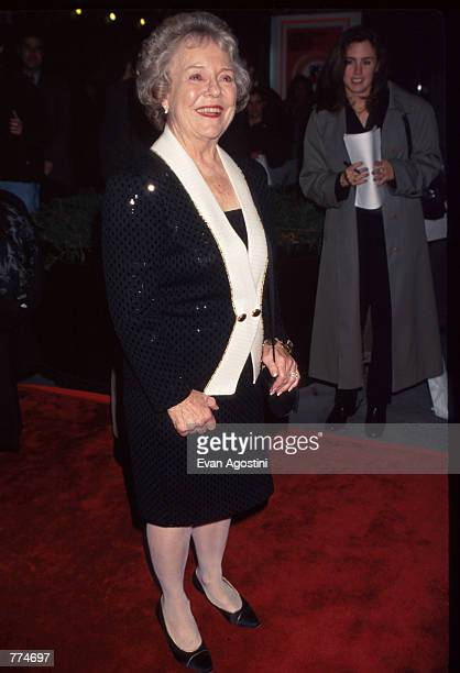 Alfred Hitchcock's daughter Patricia attends the screening of Vertigo at the Ziegfeld Theater October 4 1996 in New York City The film directed by...