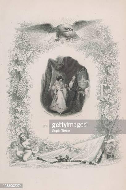 Alfred Johannot, 'The Hat of the Bride' from The Songs of Beranger, Chansons de Beranger, Jean Marie Leroux , Melchior Peronard , Pierre Jean de...
