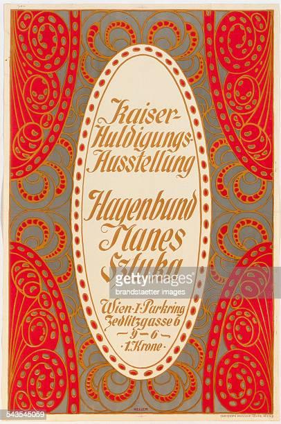 Alfred Keller Poster of the Emperorjubilee exhibition of the Viennese Hagenbund 1908 Pressure Christoph Reisser / Vienna
