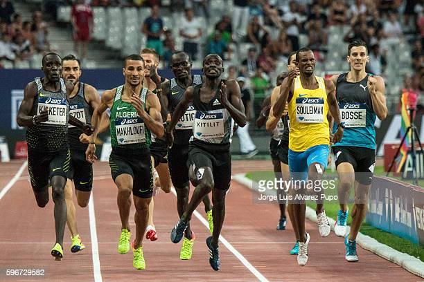 Alfred Kipketer of Kenya , Taoufik Makhloufi of Algeria, Jonathan Kitilit of Kenya, Ayanleh Souleiman of Djibouti and Pierre-Ambroise Bosse of France...