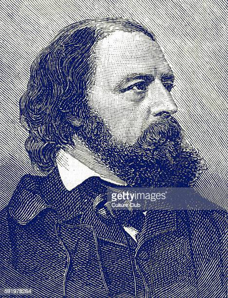 Alfred, Lord Tennyson, 1st Baron Tennyson . 19th century English poet. Poet laureate of Great Britain and Ireland . Illustration after a photograph...