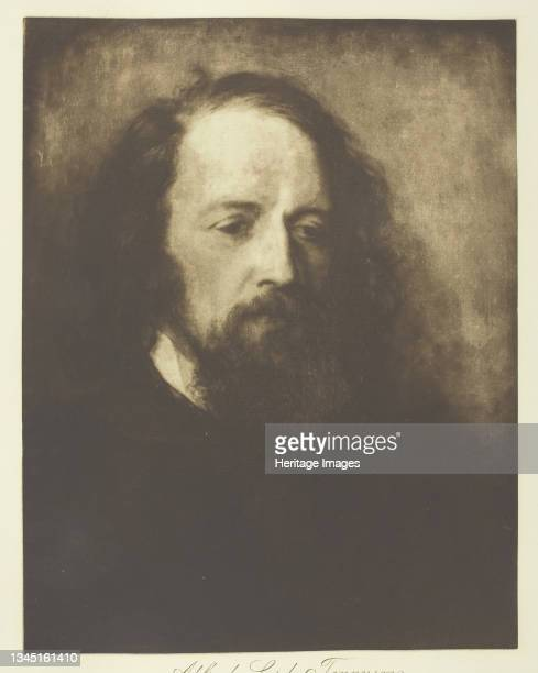 """Alfred, Lord Tennyson, circa 1893. Photogravure, plate 2 from the album """"Lord Tennyson and his Friends"""" ; edition 138/140. Artist Henry Herschel Hay..."""
