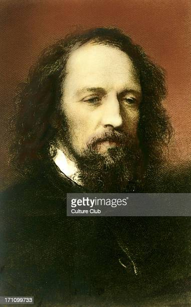 Alfred Lord Tennyson - portrait. English poet laureate. 1809-1892. Popular Victorian poet. Author of The Lady of Shallott,