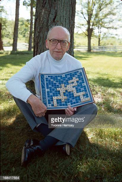 Alfred M Butts inventor of the board game 'Scrabble' is photographed August 25 1981 in New York City
