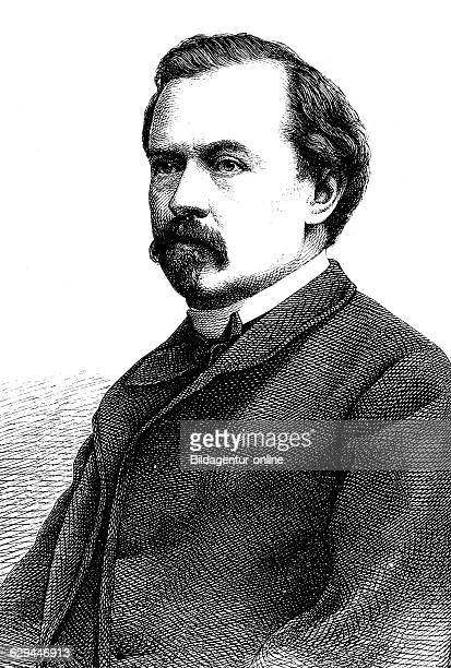 Alfred meissner 18221885 an austrian writer historical engraving circa 1869