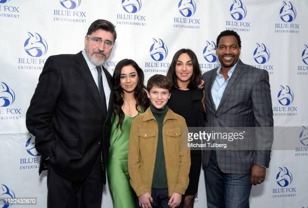 Alfred Molina Aimee Garcia Gabriel Bateman Samira Izadi and Mykelti Williamson attend the premiere of Forefront Media Group's 'Saint Judy' at...