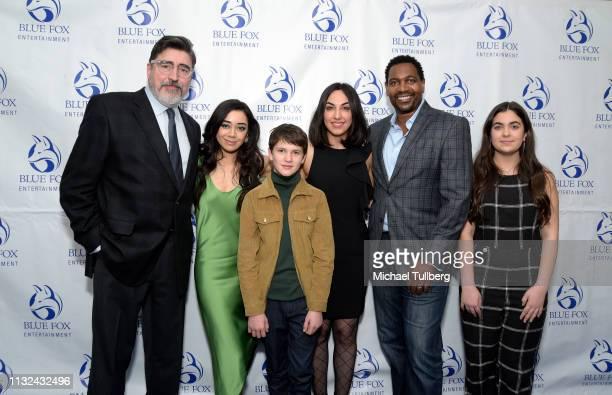 Alfred Molina Aimee Garcia Gabriel Bateman Samira Izadi Mykelti Williamson and Roxy Hanish attend the premiere of Forefront Media Group's 'Saint...