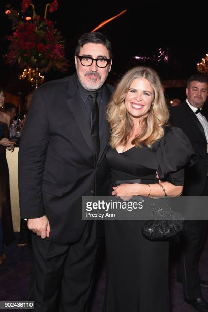 Alfred Molina and Jill Gascoine attends FOX FX and Hulu 2018 Golden Globe Awards After Party at The Beverly Hilton Hotel on January 7 2018 in Beverly...
