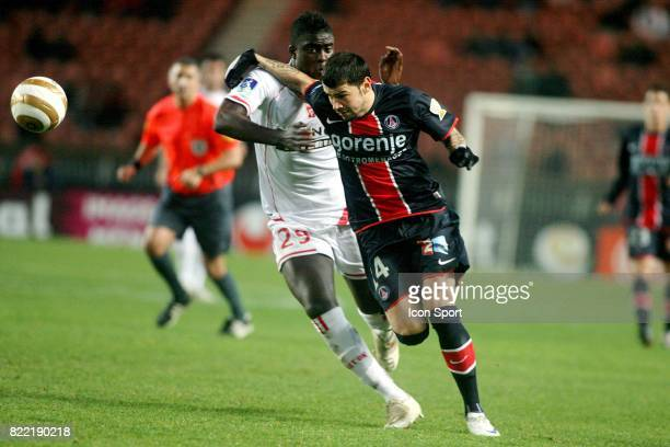 Alfred NDIAYE / Mateja KEZMAN PSG / Nancy 1/8 de finale de la Coupe de la Ligue