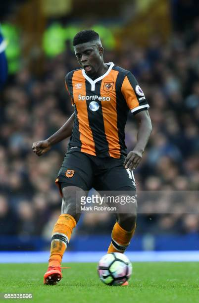 Alfred N'Diaye of Everton during the Premier League match between Everton and Hull City at Goodison Park on March 18 2017 in Liverpool England
