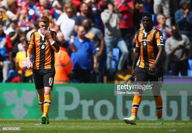 Alfred N'Diaye of Hull City and Sam Clucas of Hull City look dejected after Crystal Palace second goal during the Premier League match between...