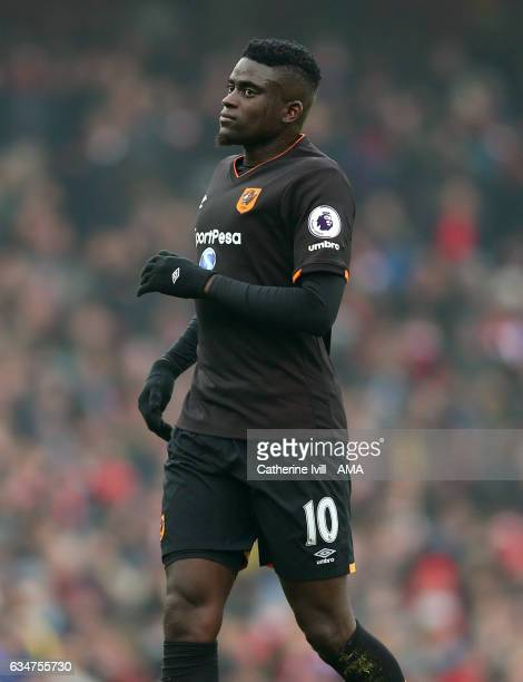 Alfred N'Diaye of Hull City during the Premier League match between Arsenal and Hull City at Emirates Stadium on February 11 2017 in London England