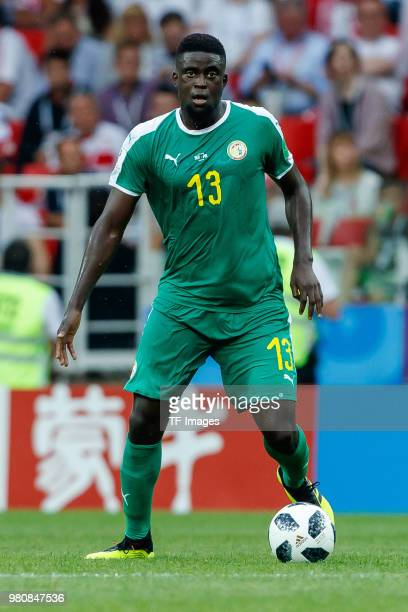 Alfred Ndiaye of Senegal controls the ball during the 2018 FIFA World Cup Russia group H match between Poland and Senegal at Spartak Stadium on June...