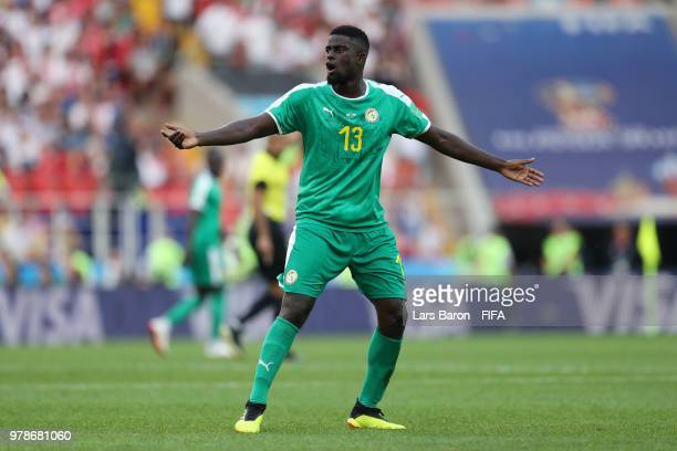 Alfred Ndiaye of Senegal gives his team instructions during the 2018 FIFA World Cup Russia group H match between Poland and Senegal at Spartak...