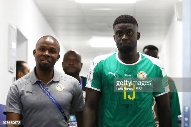 Alfred Ndiaye of Senegal is seen in the tunnel at half time during the 2018 FIFA World Cup Russia group H match between Poland and Senegal at Spartak...