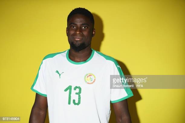 Alfred Ndiaye of Senegal poses for a portrait during the official FIFA World Cup 2018 portrait session at the team hotel on June 13 2018 in Kaluga...