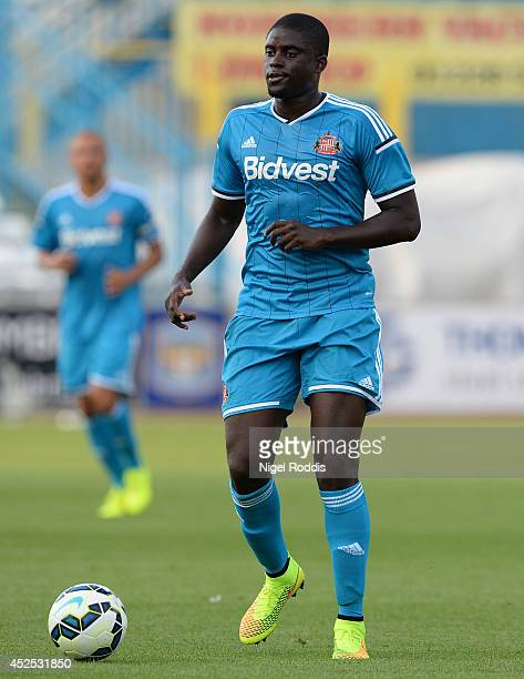 Alfred N'Diaye of Sunderland during a preseason friendly match between Carlisle and Sunderland at Brunton Park on July 22 2014 in Carlisle England