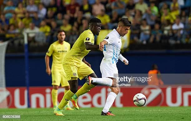Alfred N'Diaye of Villarreal CF during the UEFA Europa League match at Estadio El Madrigal Villarreal on september 15 2016