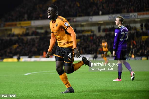 Alfred N'Diaye of Wolverhampton Wanderers celebrates after scoring a goal to make it 20 during the Sky Bet Championship match between Wolverhampton...