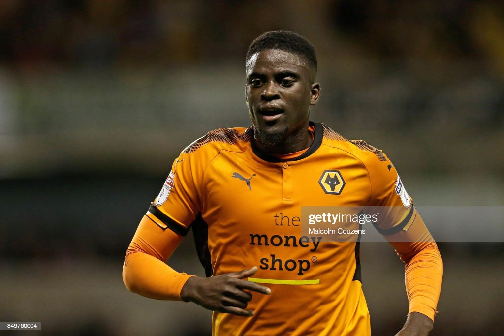 Alfred N'Diaye of Wolverhampton Wanderers during the Carabao Cup tie between Wolverhampton Wanderers and Bristol Rovers at Molineux on September 19, 2017 in Wolverhampton, England.