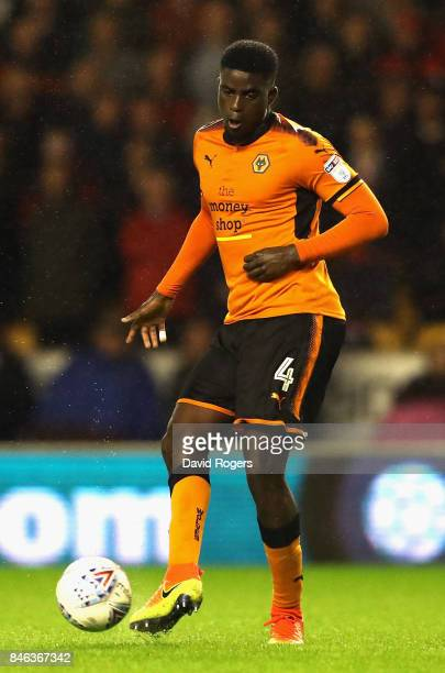 Alfred N'Diaye of Wolverhampton Wanderers passes the ball during the Sky Bet Championship match between Wolverhampton Wanderers and Bristol City at...