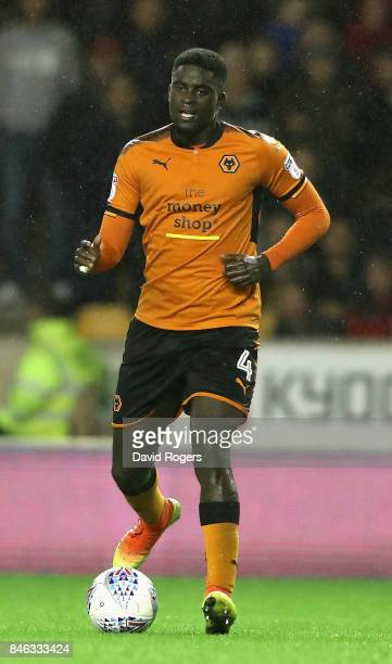 Alfred N'Diaye of Wolverhampton Wanderers runs with the ball during the Sky Bet Championship match between Wolverhampton Wanderers and Bristol City...