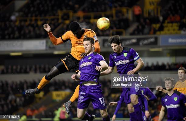 Alfred N'Diaye of Wolverhampton Wanderers scores a goal to make it 20 during the Sky Bet Championship match between Wolverhampton Wanderers and...