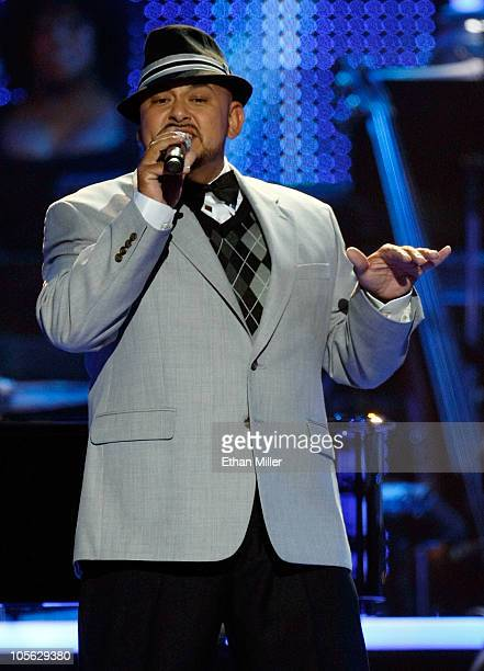 Alfred Nevarez of the RB group All4One performs during the David Foster and Friends concert at the Mandalay Bay Events Center October 15 2010 in Las...